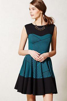 Stripe Swing Dress #anthropologie By Eva Franco Back zip Polyester, cotton, nylon; polyester, spandex lining