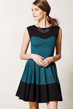 Stripe Swing Dress #anthropologie
