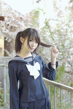 ○•SCHOOL GiRL~•○ school uniform - - seifuku - - sailor uniform - - twintails - - moe - - cute - - kawaii
