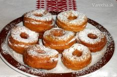 Tvarohové šišky (fotorecept) Doughnut, French Toast, Muffin, Jar, Treats, Breakfast, Sweet, Food, Recipes