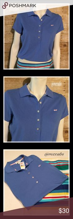 🦋Vineyard Vines NWT. 🚫Please, no offers. Comfy, light fabric with a little stretch classic polo in an easy fit style. There's a whale logo on the chest, short sleeves with a self-collar, knit cuffs, and an open hem. Paired with the Talbots's bold stripe skirt in my closet. Machine wash warm and tumble dry low. Vineyard Vines Tops