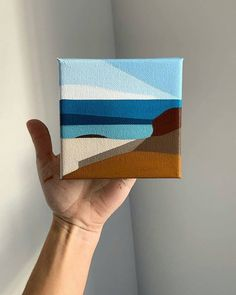 Very Easy Watercolor Painting Ideas For Beginners. Art and Craft. Making all waterpainting easy and best pieces of art. Small Canvas Paintings, Small Canvas Art, Mini Canvas Art, Mini Paintings, Landscape Paintings, Diy Canvas, Easy Watercolor, Watercolor Paintings, Geometric Painting