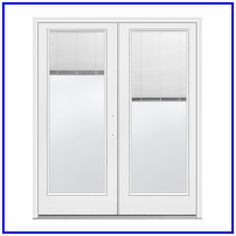 Add beauty and security into your home with this JELD-WEN Primed Left-Hand Inswing Low-E Tempered Tilt and Raise Mini-Blind Fiberglass French Patio Door. French Doors Patio, Sliding Patio Doors, French Patio, Painted Bookshelves, Family Room Walls, Interior Design Programs, Mini Blinds, Steel Doors, Room Wall Decor