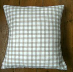 Bespoke covers individually made for you You are purchasing one pair of cushion covers professionally made with Dark Linen Gingham A 100 cotton