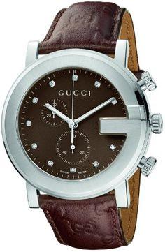 Gucci Men's YA101344 G-Chrono Guccissima Strap 11 Diamond Dial Watch (bestseller)