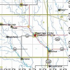 Related image result Charles City Iowa, Map, Location Map, Maps