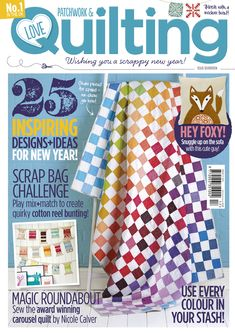 Issue 17 of Love Patchwork & Quilting on sale now with FREE bumper pack of 100 EPP templates and project book
