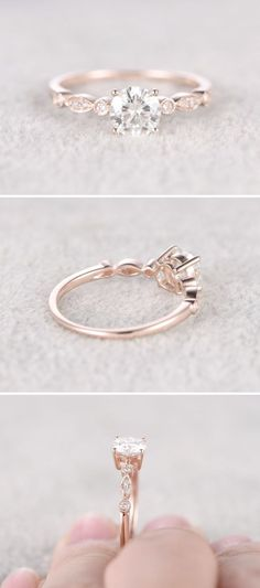 Moissanite in Rose Gold Engagement Ring More