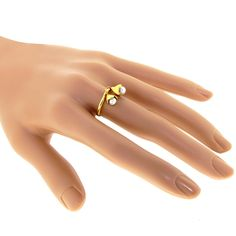 TWOSOME 18k Gold Pearl Ring by Arosha