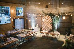 Romantic industrial fall wedding in San Diego at Luce Loft