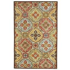 Kaleidoscope Tufted Rug - I just designed an entire living room off of these rug - too bad it's not bigger