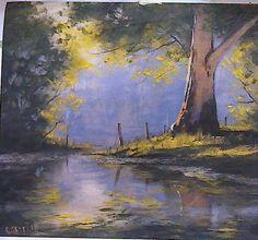 """""""River Eukaliptus Tree"""", original je ulje na platnu, australijski slikar Graham Gerchen"""