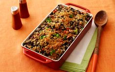 Thanksgiving side dish of Broccoli-Wild Rice Casserole from Ree Drummond, aka the Pioneer Woman. I think I'll try a blend of wild rice and white rice.