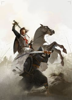 Caballero templario combate contra sarraceno. Más en www.elgrancapitan.org/foro