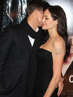 Angelina and Brad.