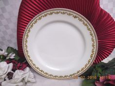 Haviland Co, white China Dinnerware Limoges, Sonderburg, Salad plate