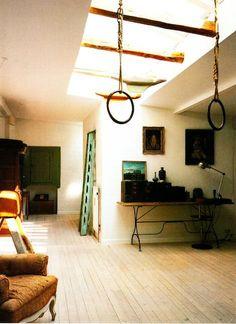 A pair of vintage rings in a Scandinavian loft space