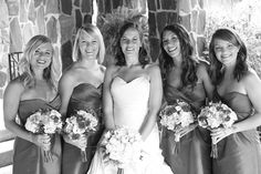 Amanda Mike Wedding Final, photo by: Jennifer Lee Photography Jennifer Lee, Party Shots, Bridesmaid Dresses, Wedding Dresses, Bridal Gowns, Amanda, Bridal Parties, Black And White, Contrast