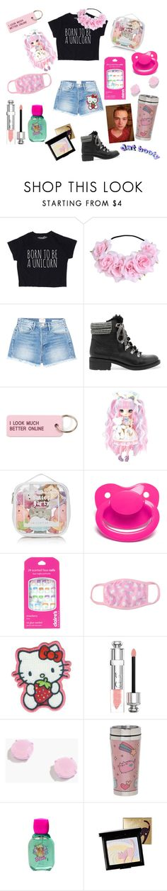"""""""My little unicorn 🦄"""" by rainythedarklord ❤ liked on Polyvore featuring Frame, Sam Edelman, Various Projects, Elegant Baby, Hello Kitty, Christian Dior, J.Crew, Pusheen, Mattel and Holika Holika"""