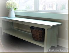 Excellent Absolutely Free Farmhouse Bench plans Suggestions Nothing compliments a farmhouse table greater than a matching farmhouse bench ! Farmhouse Bench, Farmhouse Furniture, Diy Furniture, Farmhouse Decor, White Farmhouse, Homemade Furniture, Farmhouse Windows, French Farmhouse, Furniture Plans