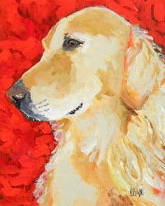 Golden Retriever Art Print. I think I actually need this, really.