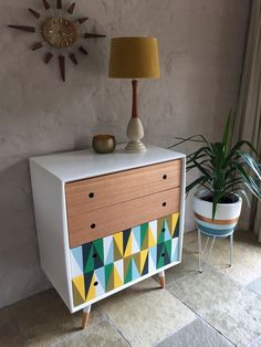Retro Mid Century Danish Vintage 1960s ALROB Scandi Sideboard Drawers Buffet