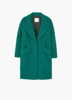 Abrigo lana textura | MANGO