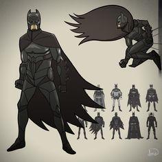 Batman (Character Re-Design Part 2) by illuskrate