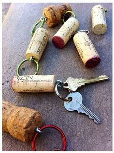 Cork key holder