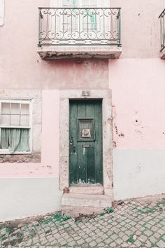 Lisbon Green Door by Heather Herzog - 527 Photo on Artfully Walls