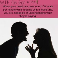What happens when you are arguing with a loved one - WTF fun fact