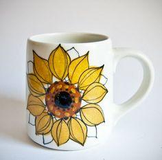 Rare Arabia Finland Large Sunflower Aurinkoruusu Coffee Mugs by Hikka Liisa Ahola SODL @ 37ea