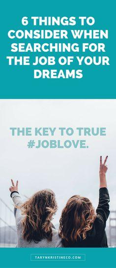 Dream Job | Job Love