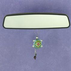 Cute Turtle Rearview Mirror Car Charm Ornament
