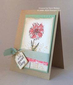 This card shows an aging technique. We used sponges and the Touches of Texture stamp set to create this technique and then added the Tags & Labels framelits tag phrase for a final touch.