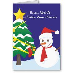 Buon natale italian merry christmas card snowman italian christmas buon natale e felice anno nuovo greeting card m4hsunfo