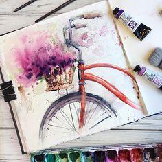 watercolor art by @_alenaponkratova_ painting, drawing, art #sketch