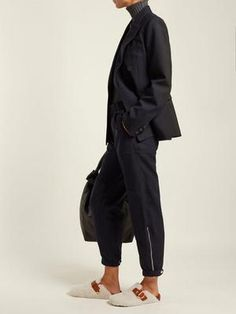ISABEL MARANT | Mirvin shearling and leather backless clogs | Goxip Isabel Marant, Clogs, Harem Pants, Backless, Normcore, Birkenstock Boston, Leather, Outfits, Women