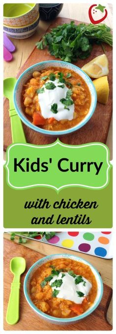 """Healthy Recipes : Illustration Description FOOD – Kids' Curry with Chicken and Lentils. Redefine """"kid-friendly"""" with this mild, warming, healthy curry packed with protein and vegetables.superhealthyk… -Read More – Chicken Recipes For Kids, Kids Cooking Recipes, Baby Food Recipes, Indian Food Recipes, Kids Meals, Cooking Tips, Children Recipes, Cooking Broccoli, Toddler Recipes"""