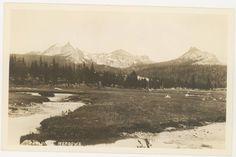 YOSEMITE Nat'l Par, Ca ~ REAL PHOTO of Tuolumne Meadows 1930s