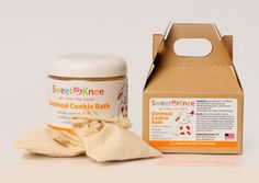 Oatmeal Cookie Bath....for cleansing the face and those other cheeks down below when they are red or irritated. Great winter time skin soother.