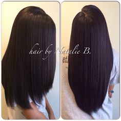 Straight & Sleek Sew-In Action! FLAWLESS SEW-IN HAIR WEAVES by Natalie B. @Natalie Jost Birdsong ---Call or text me at 708-675-9351 to schedule your appointment! Order your hair online at www.naturalgirlhair.com!