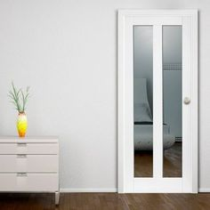 JB KIND Dominica White Primed Door with Clear Safety Glass - Lifestyle Image