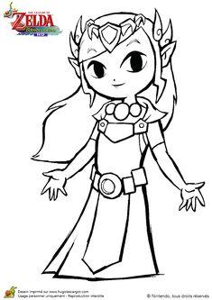 La jolie princesse Zelda, du jeu vidéo the Wind Waker.