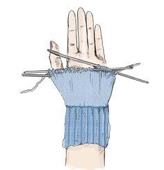 Вязание варежек с клином большого пальца Knit Mittens, Knitting Patterns, Gloves, Stitch, Hats, Mittens, Tejidos, Tricot, Breien