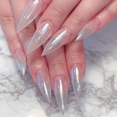 Yay or nay? 😍💅 by using our bestselling Magic White Chrome Powder ✨ Cute Acrylic Nail Designs, White Nail Designs, White Chrome Nails, Hair And Nails, My Nails, Clear Acrylic Nails, American Nails, Chrome Powder, Beautiful Nail Polish