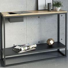 Console Metal, Console Table, Console Design, Consoles, Desk, Shelves, Furniture, Home Decor, Scandinavian Modern