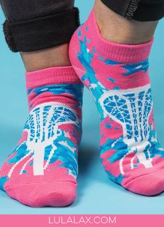 Put a little prep in your step with these adorable lax girl ankle socks, exclusively from LuLaLax!