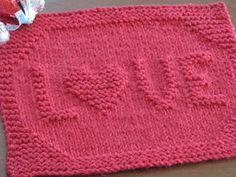 LOVE Dishcloth free pattern