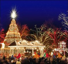 Branson, MO Silver Dollar City...millions of lights @ Christmas time!!!